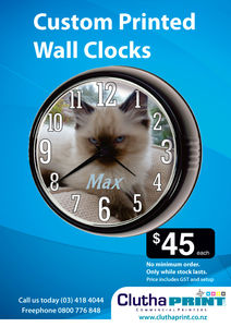 Custom printed wall clocks - June 2014