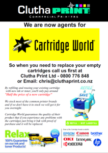 Cartridge World flyer